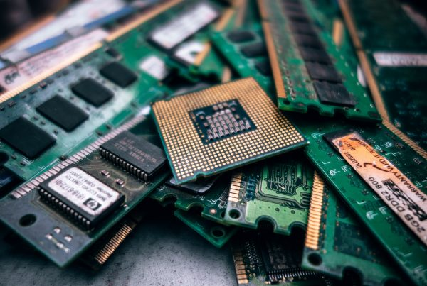 Discarded computer chips